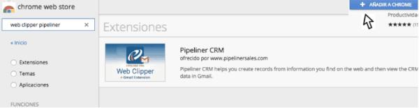 Extensión herramienta pipeliner crm