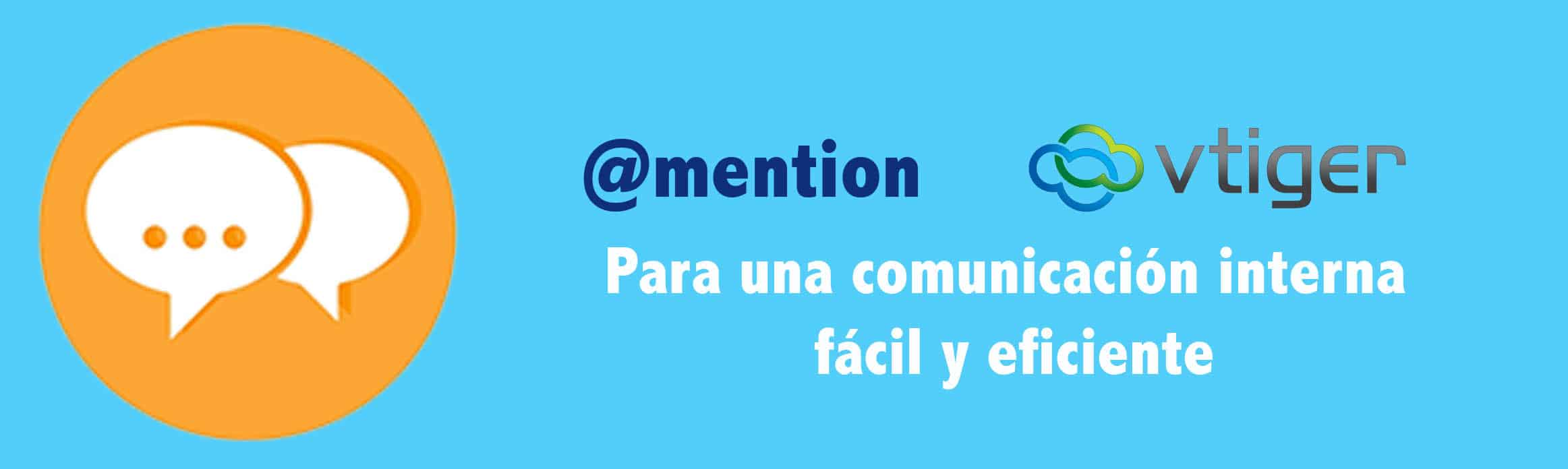 función crm @mention vtiger