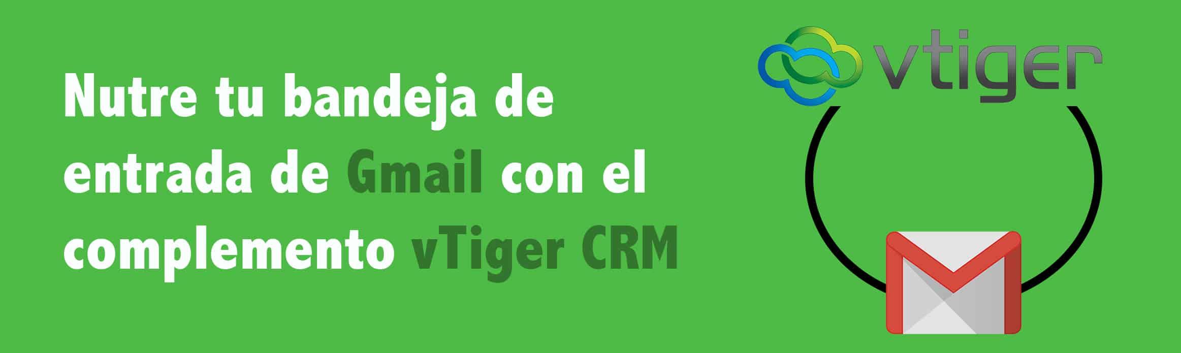 gmail con el complemento vtiger