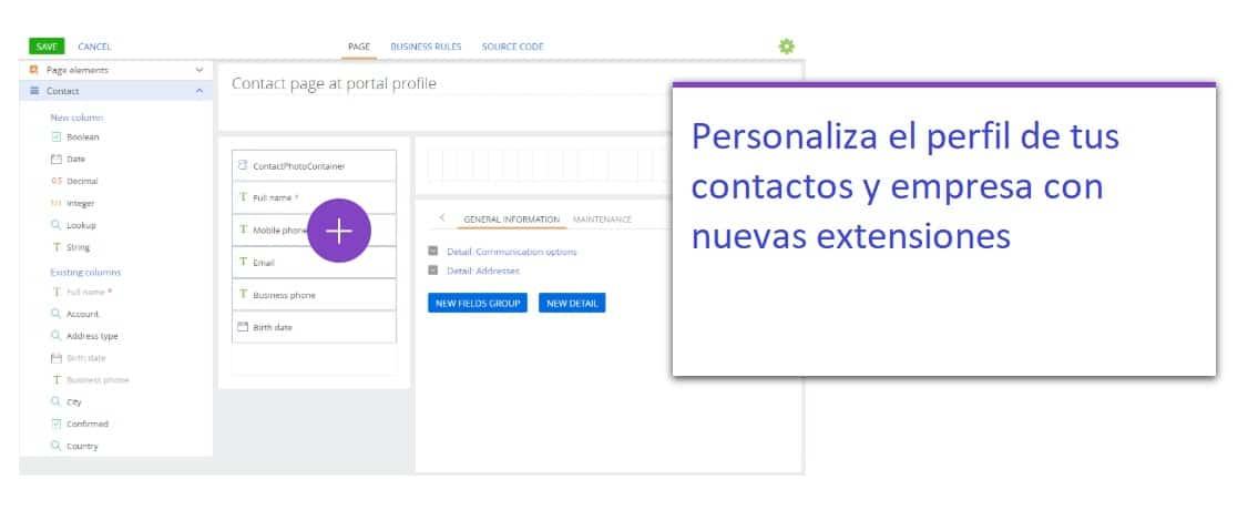 bpm 7.15 personaliza contactos